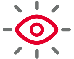 Eyes wide open symbol