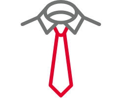 Shirt and tie symbol