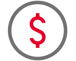 dollar sign in a circle symbol