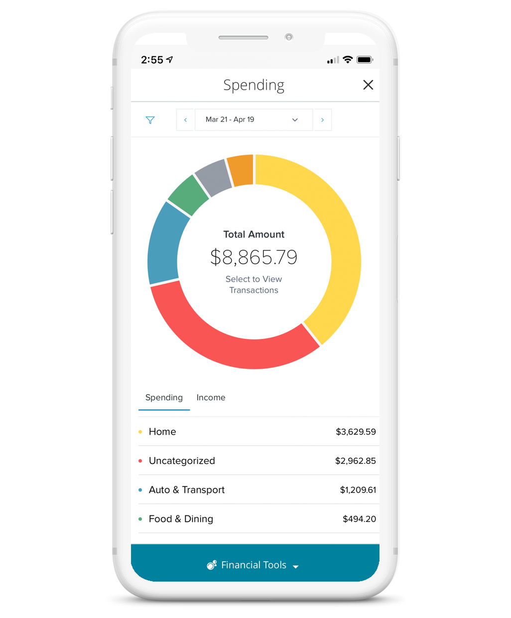 personal financial management tool screenshot