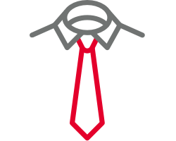 Shirt with tie symbol