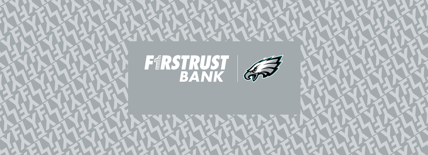 Philadelphia Eagles and Firstrust Bank Logos